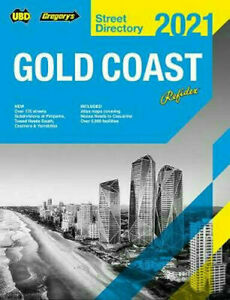 2021 Gold Coast Refidex Street Directory 22nd ed By UBD Gregory's Paperback NEW