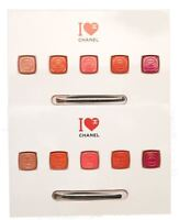 Rouge COCO CHANEL 5 Color Lip Sample Palette+ Brush Ultra Hydrating Color 2 Pack