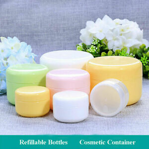 10-100pcs Refillable Bottles Plastic Empty Makeup Jars Pots Cosmetic Container