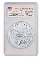 2014-P 5 oz. Silver ATB Smoky Mountains Park Mercanti Signed PCGS SP69 SKU32061