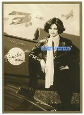 VALERIE BERTINELLI War Time Airplane Photo PANCHO BARNES Vintage Invitation