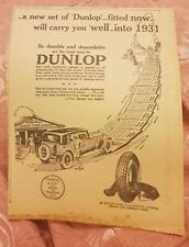 Dunlop Tyres - 1929 Advertisement