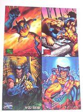 1995 Marvel Masterpieces Trading Card Store Promo sheet WOLVERINE! X-MEN! LOGAN!
