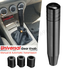 Black Universal Car Manual Gear Stick Shift Shifter Lever Knob Aluminum 180mm