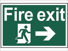 Scan - Fire Exit Running Man Arrow Right - PVC 300 x 200mm