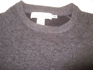 Men's H & M Dark Gray Crewneck Sweater - Size L -- Mint Cond.