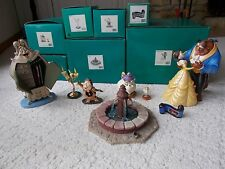 WDCC DISNEY CLASSICS BEAUTY AND THE BEAST 8 PIECE COLLECTION RARE!!! NEW!!!!