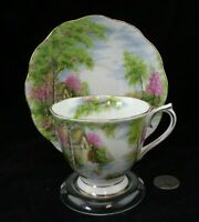 ROYAL ALBERT THE OLD MILL CABINET TEA CUP AND SAUCER