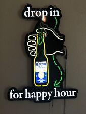 Corona Extra Beer Happy Hour Motion LED Sign Bar Pub Decor Man Cave