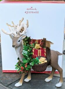 Hallmark Reindeer Large Table Top Decoration 2016 Woodland