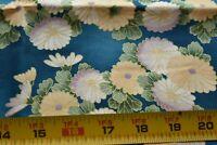 "25"" Long Floral with Metallic-Gold Quilt Fabric/Hoffman/Hanako's Treasures N5225"