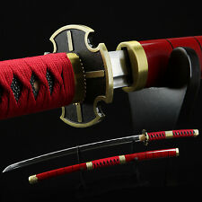 Hand Forged 1045 Carbon Steel Cosplay One Piece Roronoa Zoro Replica Sword