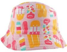 GIRLS BIG FISCH SUN HAT ICE LOLLY REVERSIBLE BUCKET NEW  AGE 2/4 4/6 6/8
