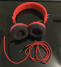 Crosley Vintage Style Headphones Orange Woven Cloth - Cable Included