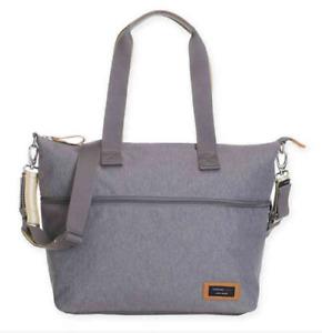 Storksak Baby Travel Expandable Diaper Bag Gray NEW