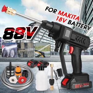 60 Bar High Pressure Cordless Washer Spray Water Cleaner For Makita 18V Battery
