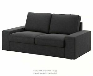 New Ikea KIVIK  Two [2] seat sofa COVER SET in Hillared  anthracite 003.489.15