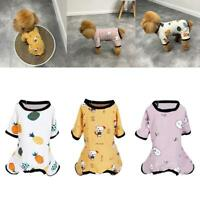 Embroidery Cat Dog Pajamas Cotton Small Pet Clothes Apparel Puppy Jumpsuit  Top