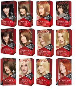 3 Pack Revlon Colorsilk Beautiful Hair Color Permanent Hair Dye - Select Shade
