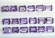 Natural Purple Amethyst Emerald Cut Lot 35.70 Cts 18 Pcs 9x7 mm Promotion Price