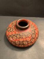 Rare Vintage Nicaragua Art Handmade Pottery Vase Signed Norlan Vasquez