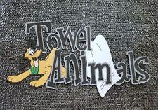 Disney towel animals title printed scrapbook page die cut