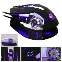 4000DPI USB Gaming Maus PC Optisch Mous mit 4 LED Programmierbare 6 Tasten Mäuse