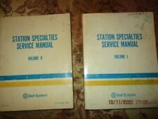 Bell System Station Specialty Service Manuels -Two Books