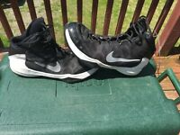 Nike Zoom Without A Doubt Basketball Shoes  Men's Size 11 Black/ White