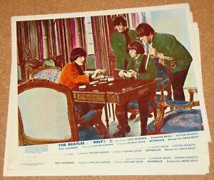 BEATLES: HELP! (1965) - VERY RARE original UK 8x10 FOH lobby card SET