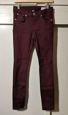 """Rag & Bone Skinny Jeans Size 28 (29""""x29"""") Port Wine Stretch Denim Pants"""