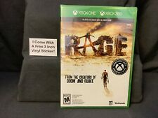 Rage FREE Sticker Xbox One 360 New Factory 3rd-Person Vehicular Mayhem Gunplay