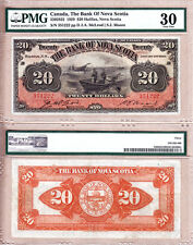 Superb Bank of Nova Scotia $20 1929 Fishing Dory Note in PMG VF30 Condition.
