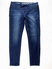 Volcom Brand Womens Jeans Sz 9 Super Stoned Skinny Ankle Dark Wash Crop Lace Up