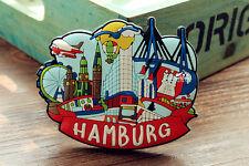 Deutschland Hamburg Reiseandenken 3D Weichgummi Kühlschrankmagnet Rubber Magnet