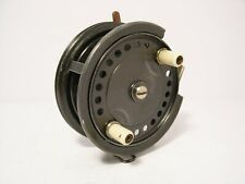 """Vintage Antique 3 1/2"""" Alloy Allcock Easicast Fishing Reel - Retaining Very Well"""