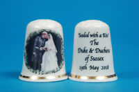 "Prince Harry & Meghan The Kiss No.1 "" Sealed With A Kiss"" Thimble B/115"