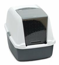 @ Catit Magic Blue Jumbo Litter Box Tray Grey Hygienic Easy Scoop Catflap Style