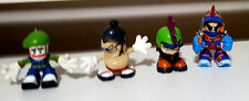 LOT OF 4X TECH DECK FIGURINES - NO SKATEBOARDS. MAGNETIC FEET! 6-7CM TALL!