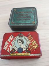 2 X Vintage Tins Oxo & Crawford's