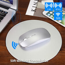Wireless Bluetooth dual-mode mouse rechargeable for PC Laptop Mac Android