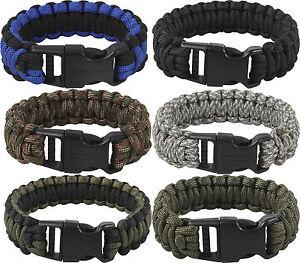 Deluxe Survival Paracord Cobra Bracelet w/ Buckle