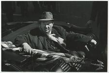 ST PATRICKS DAY PARADE 1966, MAN IN CAR W/ SASH   AMERICAN FLAG B W PHOTO