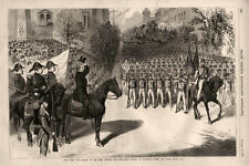 Review of First Division, New York State Militia by Governor Tilden  - 1875