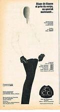 PUBLICITE ADVERTISING  1965   CCC  vetements anorak de ski