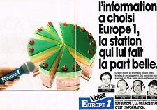 PUBLICITE ADVERTISING 034   1986   EUROPE 1 radio  J.P ELKABBACH S. PAOLI ( 2 pa