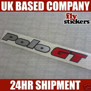 VW Polo GT Rear Badge Sticker Replacement