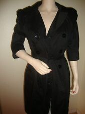 NWT BEBE PLEAT SLEEVE DOUBLE BREAST TRENCH COAT SIZE M