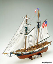 "Intricate, Authentic Wooden Model Ship Kit by Mamoli: the ""Newport"""