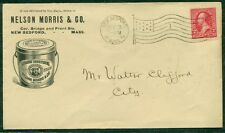 1897, Food Shortening advertising cover w/2¢ tied by New Bedford, MA flag cancel